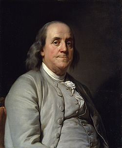 Duplessis portrait of Ben Franklin