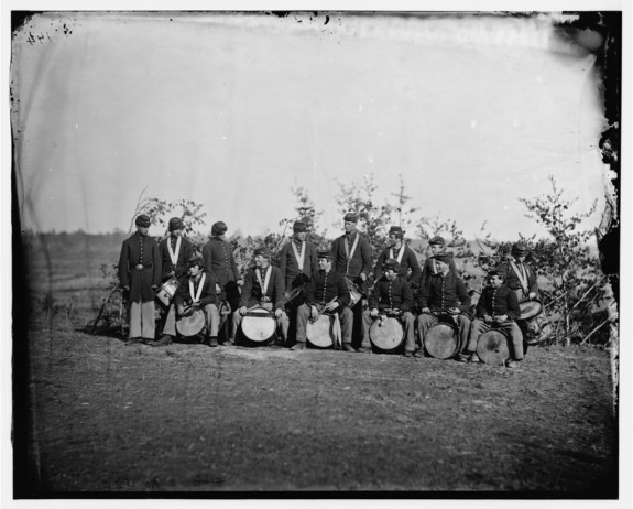 Drum Corps, 93rd New York Infantry - Bealeton, VA, August 1863