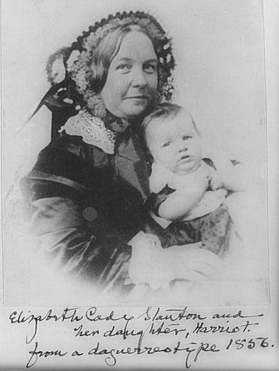 Elizabeth Cady Stanton and baby