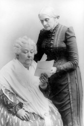 Elizabeth Cady Stanton (seated) and Susan B. Anthony