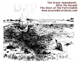 The Crater Immediately After the Assault