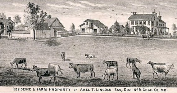 Residence and Farm of Abel T. Lincoln