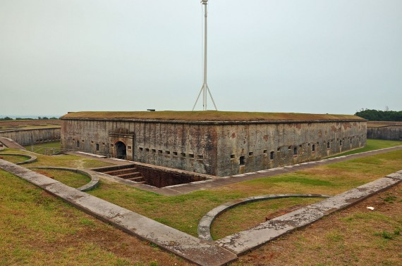 Fort Macon from the Shoreward Side