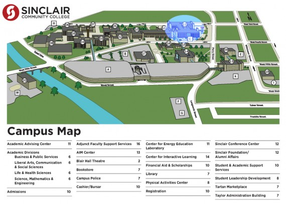 Sinclair Community College Map Sinclair Community College Map | compressportnederland Sinclair Community College Map