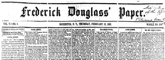 Frederick Douglass Paper 1852-02-12
