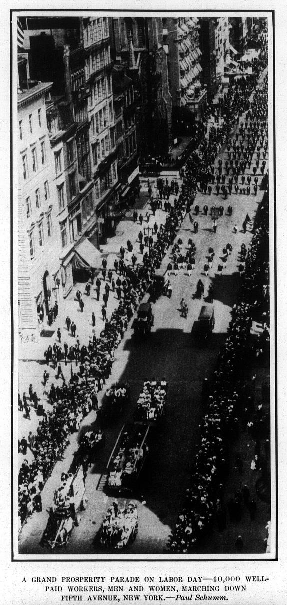 Grand Prosperity Parade in New York. - September 17, 1908