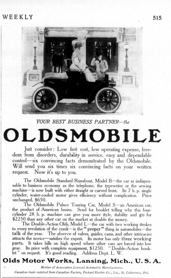1906 Oldsmobile Ad