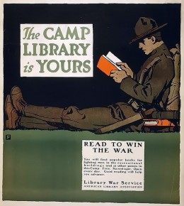 The camp library is yours - Read to win the war (1917)