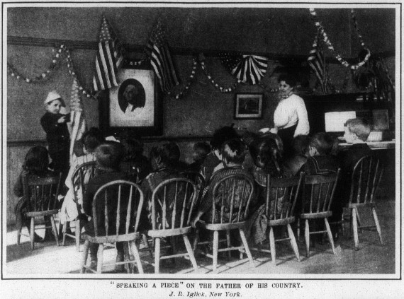 """""""SPEAKING A PIECE"""" ON THE FATHER OF HIS COUNTRY.  J. R. Iglick, New York ."""